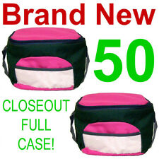 CLOSEOUT FULL CASE! 50 NEW INSULATED ASST LUNCH BAGS,THERMAL SCHOOL TOTE COOLER