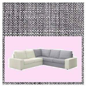 IKEA Kivik Corner Sofa Section NEW Cover Isunda Gray Salt-n-Pepper Tweed Sealed