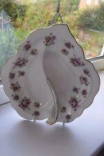 Royal Albert Sweet Violets Leaf Serving Dish 1st Quality Bone China British