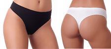 Gatta 7 Models Seamless Underwear String Short Brief Pants Microfiber Colors Lot Kiki - Mini Bikini 6 Pieces Size S White
