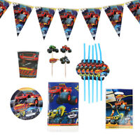 Blaze Monster Machines  Birthday Party Supplies Bag Tableware Plates Cups Decor