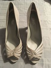 Lotus Silver Sparkle Peep Toe Heeled Shoe Size 6