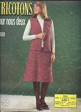 TRICOTONS POUR NOUS DEUX N°108 TRICOT CROCHET HOMME FEMME