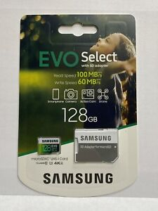 SAMSUNG: EVO Select 128GB 100MB/s Full HD & 4K UHD Memory Card with Adapter