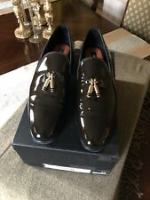 DSQUARED2 Men's Brown Patent Leather Dress Shoe 10 (43)