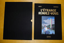 E.P. JACOBS-L'Etrange Rendez-Vous-RARE Edition de luxe toilée NOIRE- 10 ex-NEUF