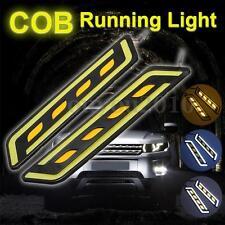 2x LED L-Shape COB Car DRL Turn Signal Light Daytime Running Lamp Yellow/White