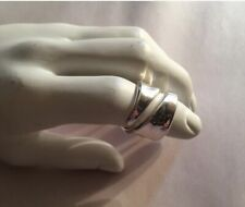 NWT auth ROBERT LEE MORRIS size 10  split tail WRAP AROUND ring Silvered Bronze