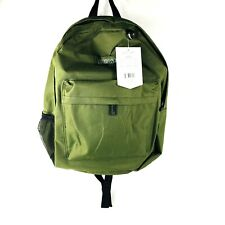 "East West USA Simple Student Backpack 16.5"" Olive Green"