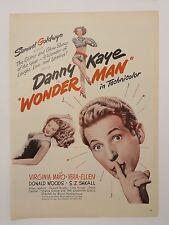 Original Print Ad 1945 MOVIE Ad Danny Kaye Wonder Man Samuel Goldwyn