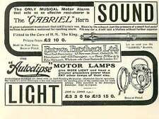 1909 Musical Motor Alarm Gabriel Horn Brown Bros Ad