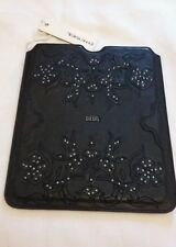"DIESEL JOY Studded  Leather ipad pouch case Black Size 9.5"" x 7.31"""