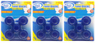 House Care Blue Toilet Bowl Blocks Clean & Fresh, 5 Ct. (Pack of 3)