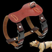 Soft Real Leather Small Dog Harness Adjustable Pet Puppy Vest French Bulldog Pug
