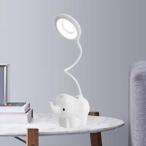 Flexible Elephant LED Table Desk Lamp Night Light 3 Stage Dimming Pen Holder
