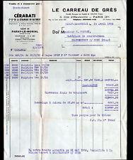 """PARAY-le-MONIAL (71) USINE de CERAMIQUE / CARREAU DE GRE """"CERABATI"""" en 1950"""