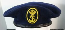 MILITARY BERET - SPAIN NAVY SPECIAL FORCES COMBAT SWIMMER BLACK/BLUE