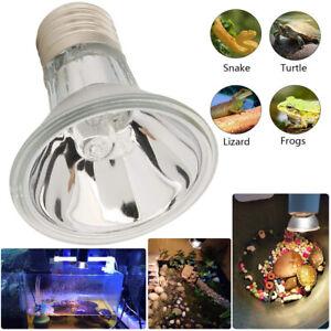 Heizlicht Wärmelampe Aquarium Terrarium Reptilien Wärmestrahler UVA UVB 25-75W