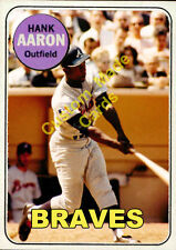 Custom made Topps 1969 Atlanta Braves Hank Aaron baseball card ..
