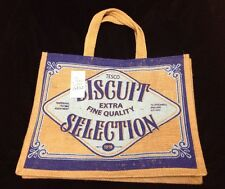 Tesco Biscuit Selection Tote Bag Cookies Jute Juco New Reuse Recycle Eco Retro
