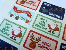 Frohe Weihnachten Sticker Etiketten für Karten Umschlag & Fest basteln x50304