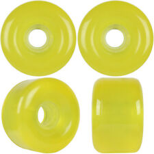 Longboard Cruiser Wheels Set 69mm x 44mm 85a Translucent Yellow Usa Made