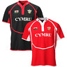 DAFFYDD COOLDRY MENS WELSH RUGBY SHIRT BREATHABLE FABRIC HOME OR AWAY ALL SIZES