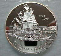 1999 CANADA JUAN PEREZ PROOF SILVER DOLLAR COIN