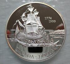 1999 CANADA JUAN PEREZ PROOF SILVER DOLLAR COIN