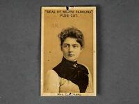 1888 Seal of North Carolina Plug Cut Tobacco Card  Mrs. Grover Cleveland
