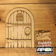 3D Old Wood & Stars Fairy Door Kit - Laser Cut - Ready to decorate FY-DOOR-003