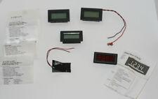 3 12d Lcd Digital Panel Meter Pm 428pm 438 Cc Mini Led Cx102 Lot Of 4