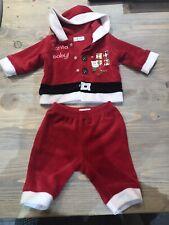 Mamas And Papas Newborn Baby Christmas Santa Outfit Trousers Jacket 10lb