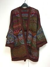 Peruvian Connection Kaffe Fassett mandala kimono open cardigan alpaca cotton XL