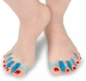 Gel Toe Separator, Hammer Toe / Claw Toe Straightener, Bunion Correction (PAIR)