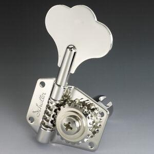 Mecaniques Schaller Basse  BM Reversibles P-J Bass MusicMan Tuners 2Left+2Right