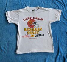 VINTAGE 1989 Super Sunday Medium T-shirt Barbary Coast Superbowl 49ers