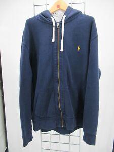 C2508 Polo Ralph Lauren Men's Long Sleeve Full Zip Pony Logo Hoodie Size 2XL