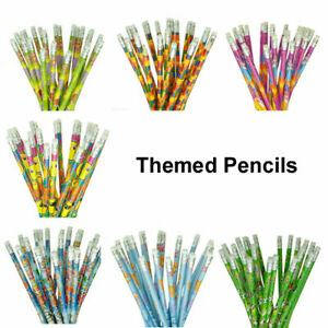 Kids Themed Pencils, Party Bag Fillers, Childrens School Stationery, Girls Boys