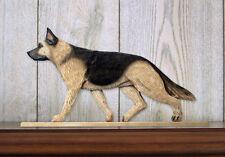 German Shepherd Dog Figurine Sign Plaque Display Wall Decoration Tan w/ Black Sa