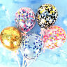 5 Inch Birthday Party Wedding Cake Decor Balloon Set Confetti Foil Latex Balloon
