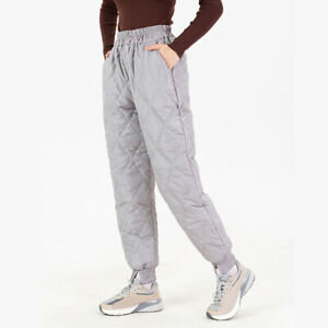 Thick Pants Trousers Bomber Warm Duck Down High Waist Jogger Jogging