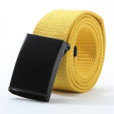 Military Canvas Waist Belt Belt Mens Boys Casual Web Plain Waistbands 11 Colors