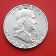Amerika-U.S.A.: 1/2 Half Dollar 1961-D Silber  #F2093, Franklin, KM# 199, VZ-XF