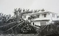 Vintage Miami Florida Hurricane Damage Photo Lot (6) Snapshots House Trailer