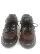 Dr. Martens Mens Brown Lace Up Work Shoes Made in England Size 7