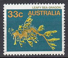 Australien Briefmarke gestempelt 33c Leafy Sea-Dragon Fisch Tier / 360