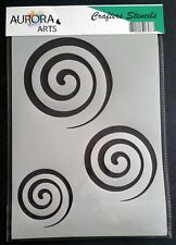 Stencil by Aurora Arts A4 Concentric swirls 190mic Mylar craft stencil 195