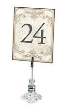 1-24 Vintage Gold Elegant Wedding Table Numbers Number Cards