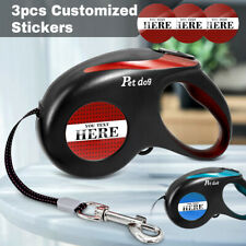 Automatic Retractable Dog Leash Heavy Duty Walking Leads & Personalized Sticker